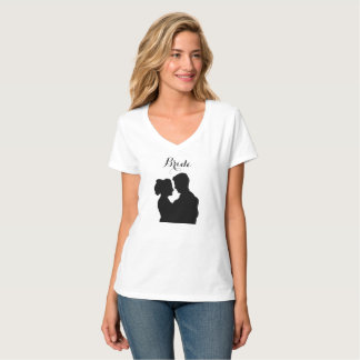 Bride Tshirt - couple illustration silhouette