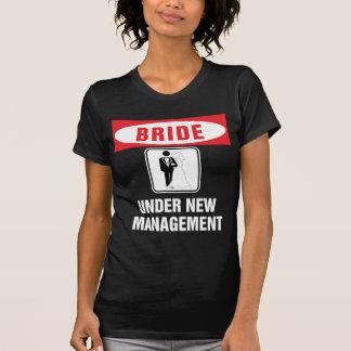 Bride under new management blk tshirt