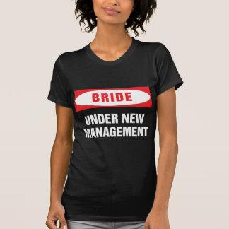 Bride under new management blk t shirt