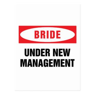 Bride under new management postcard