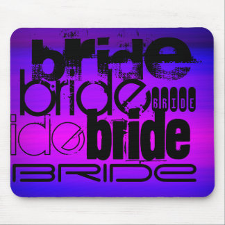 Bride; Vibrant Violet Blue and Magenta Mouse Pad