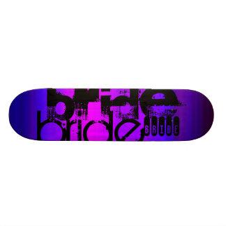 Bride; Vibrant Violet Blue and Magenta 21.6 Cm Old School Skateboard Deck