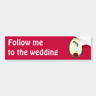 Bride, wedding items bumper sticker
