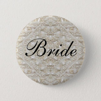 Bride Wedding  lace antique 6 Cm Round Badge