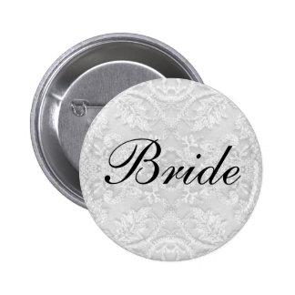 Bride Wedding lace white Pin