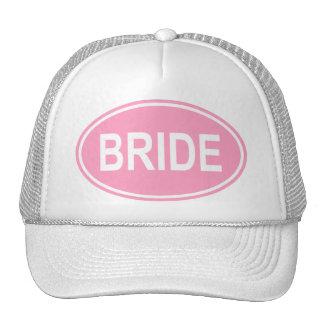 Bride Wedding Oval Pink Cap