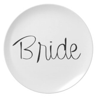 """""""Bride"""" Wedding Party Plate"""
