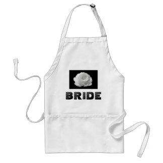 Bride White Rose Apron
