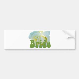 Bride White Rose design! Bumper Sticker