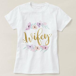 Bride Wifey Floral T-Shirt Bridal Tees Bridesmaids