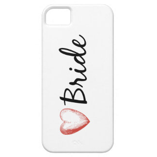 Bride with a heart iPhone 5 case