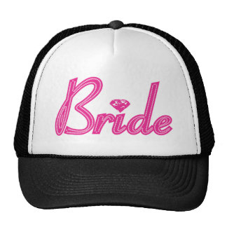 Bride with Bling - Pink Cap