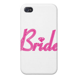 Bride with Bling - Pink iPhone 4 Cover