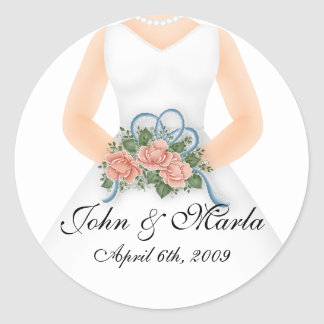Bride with Bouquet D4 - Wedding Stickers