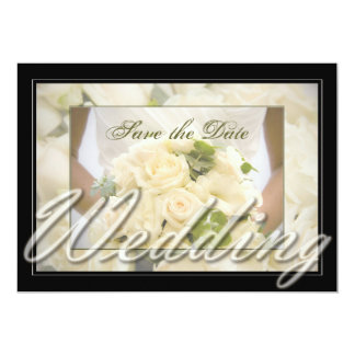 Bride with Bouquet Inspired 13 Cm X 18 Cm Invitation Card