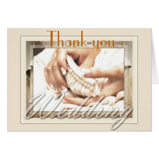 Bride with Bouquet Thank You Card