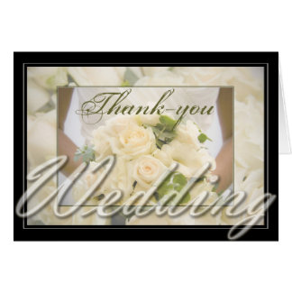 Bride with Bouquet Thank You Stationery Note Card