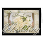 Bride with Bouquet Thank You Greeting Cards