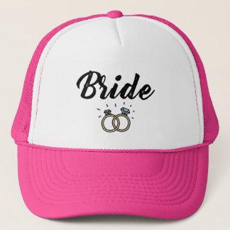 Bride with Diamond Ring Wedding Gift Trucker Hat