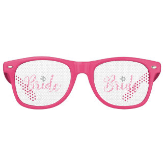 Bride-with-gold-flower-pink2 Retro Sunglasses
