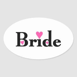 Bride with Hearts Stickers