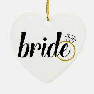 Bride with Ring Ceramic Heart Decoration