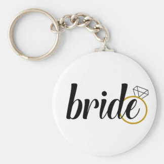 Bride with Ring Key Ring