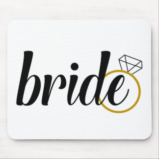 Bride with Ring Mouse Pad