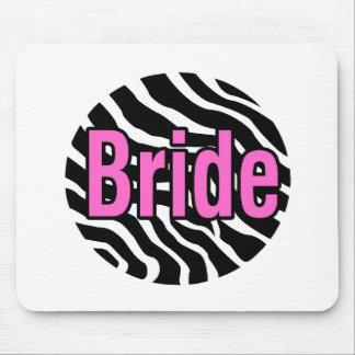 Bride Zebra Stripes Mouse Pad
