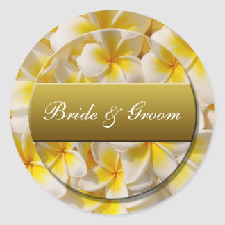bridegroom round sticker