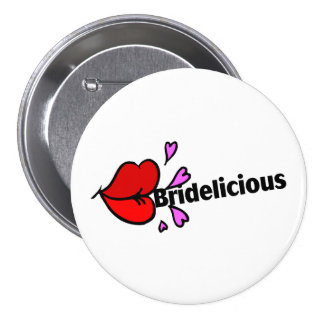 Bridelicious Red Pinback Buttons