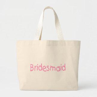 Bridemaid (Pink) Large Tote Bag