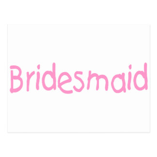 Bridemaid (Pink) Postcard