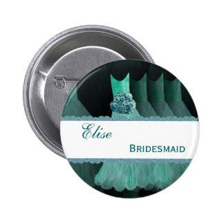 Bridemaid Wedding Party Custom Name Button