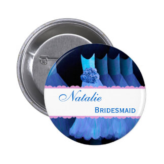 Bridemaid Wedding Party Custom Name Buttons