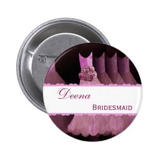 Bridemaid Wedding Party Custom Name Pins