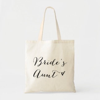Bride's Aunt | Modern Calligraphy Tote Bag