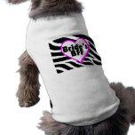 Brides BFF (Heart Zebra Print) Sleeveless Dog Shirt