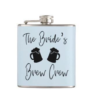Bride's Brew Crew Bachelorette Wedding Vinyl Flask