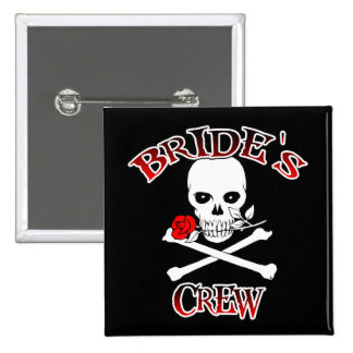 Bride's Crew 15 Cm Square Badge