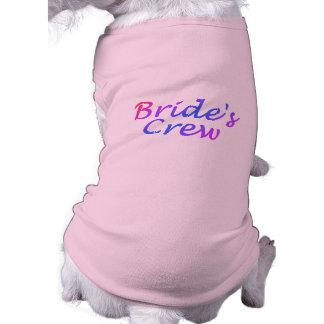Brides Crew (Pastel) Sleeveless Dog Shirt