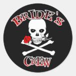Bride's Crew Round Sticker