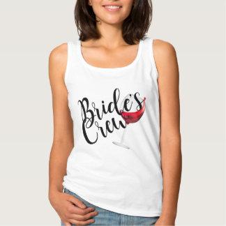 Bride's Crew Wine Bridesmaid Singlet
