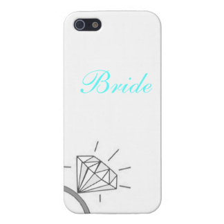 Bride's Diamond Ring Phone Covered- Blue iPhone 5 Cover