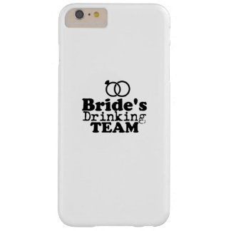 Bride's Drinking Team  Groom Fuuny Party Barely There iPhone 6 Plus Case