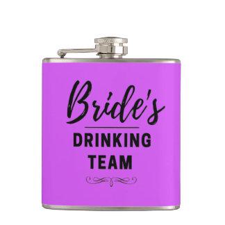 Bride's Drinking Team Wedding Vinyl Flask