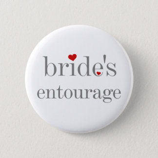 Bride's Entourage Button