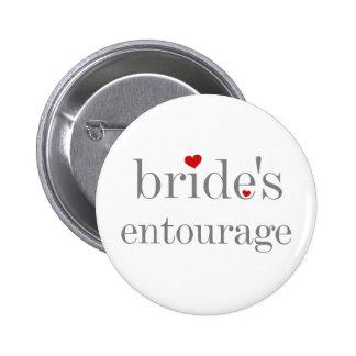 Bride's Entourage Button