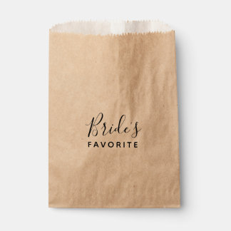 Brides Favorite Wedding Weekend Welcome Treat Favour Bag