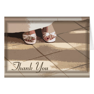 Bride's Feet Bridesmaid Thank You Card